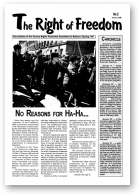 The Right of Freedom, 2/1998
