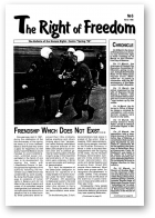 The Right of Freedom, 6/1998