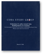 Enhancing U.S. policy toward Cuba: Building blocks of a transition