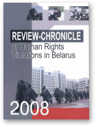Review-Chronicle of human rights violations in Belarus in 2008